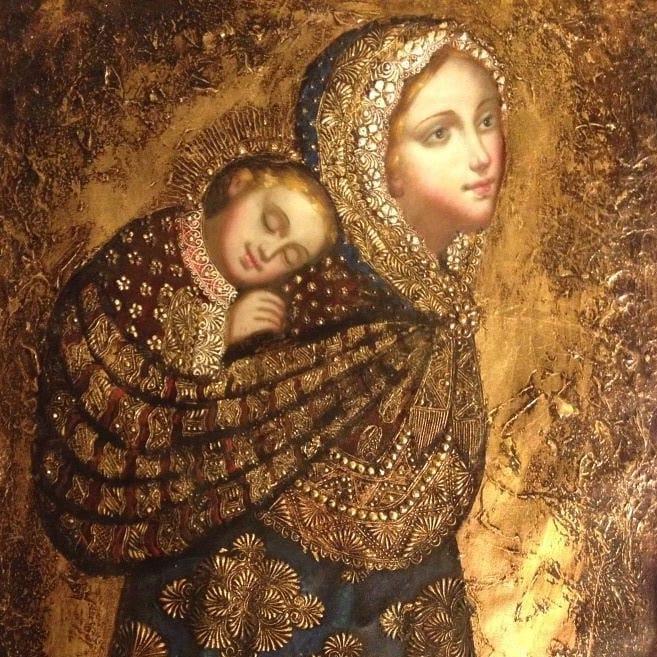 madre Babywearing madonna